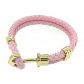 Light Pink Leather Phrep Bracelet